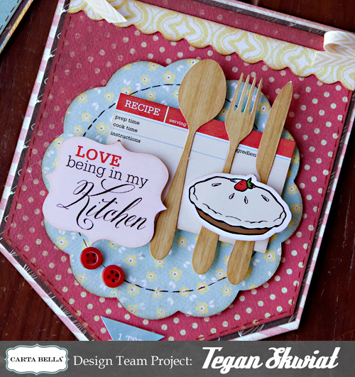 Food Book Cover Ideas : Scrap happiness homemade with love banner