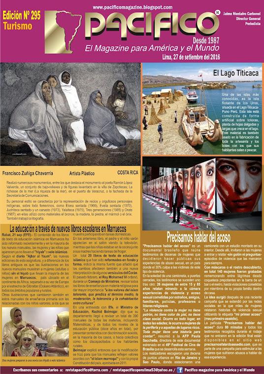 Revista Pacífico Nº 295 Turismo