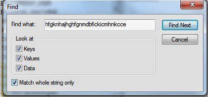 Copiar código identificativo de la extensión