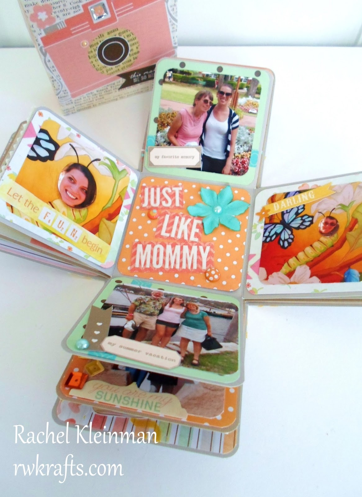 Rwkrafts How To Tuesday Make An Exploding Scrapbook Box
