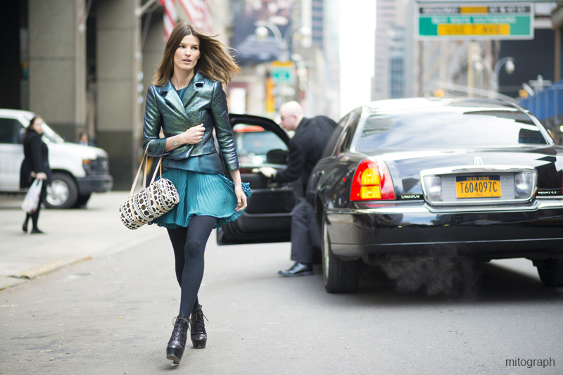 Mitograph Hanneli Mustaparta Street Style At New York Fashion Week 2013 2014 Fall Winter