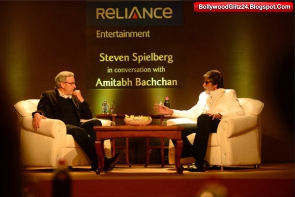 Amitabh Bachchan with Hollywood Director Steven Spielberg