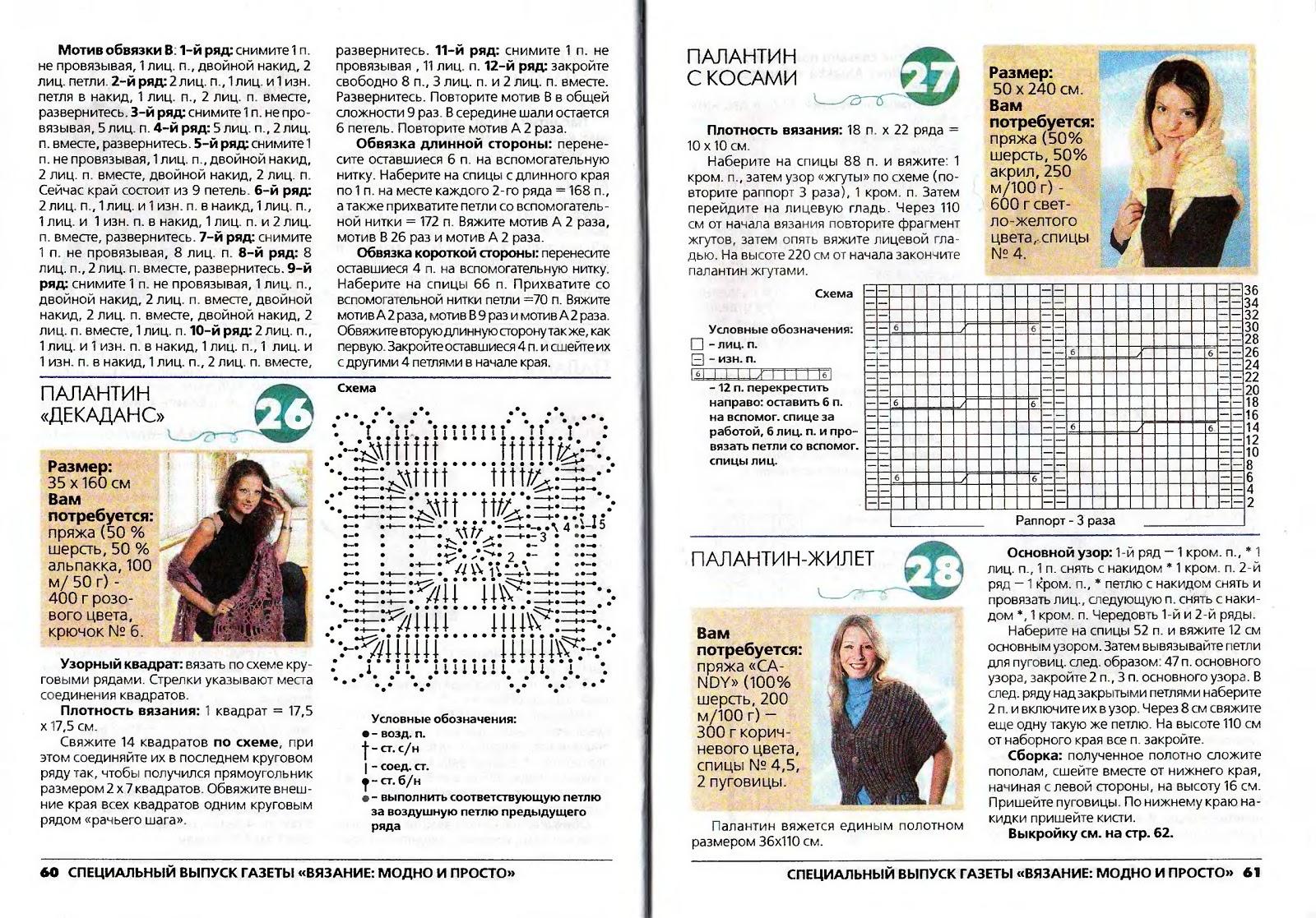 Журнал вязание модно и просто схемы описание