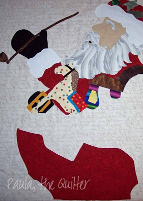 Santa Claus applique partially completed