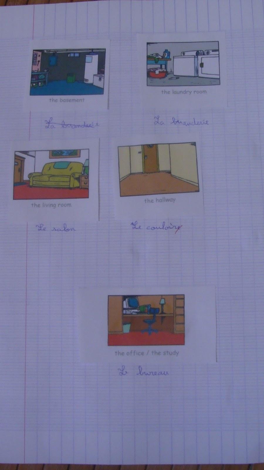 vocabulaire les diff rentes pi ces de la maison on fait l 39 cole la maison. Black Bedroom Furniture Sets. Home Design Ideas