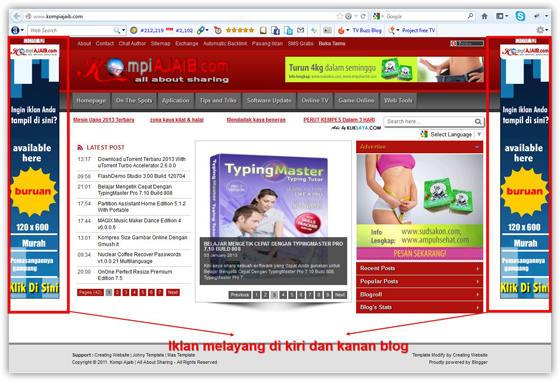 Membuat Iklan Melayang Dipinggir Blog Dengan Tombol Close