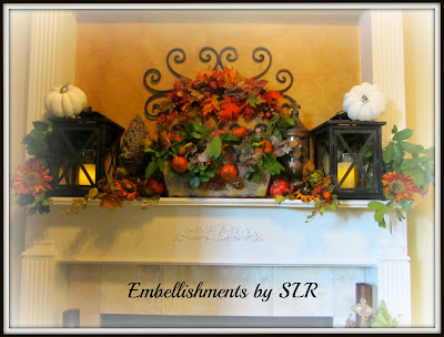 European Fall Harvest Mantel