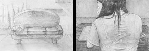 横浜美術学院の中学生教室 美術クラブ テーマ「風景」03
