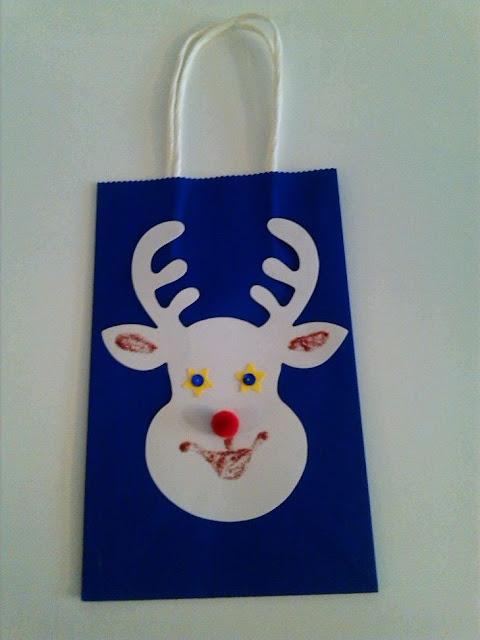 DIY Reindeer Gift Bag Idea Craft