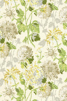 Floral Wallpaper yellow and beige T4130