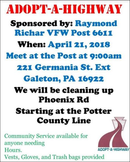 4-21 Adopt-A-Highway Galeton VFW