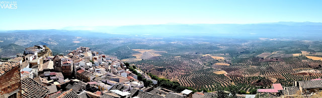 Vistas panorámicas de Chiclana de Segura, pueblo de Jaén
