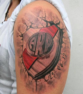 Tatuaje Club Atletico River Plate