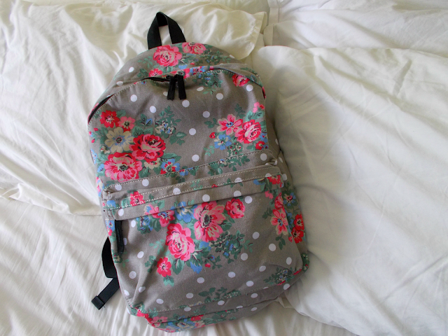 Floral/Polka Dot Backpack Schoolbag // September Favourites