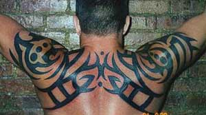 art tattoo on his back