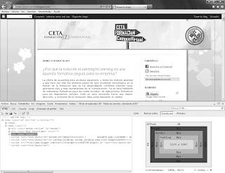 herramientas de desarrollo de Internet Explorer
