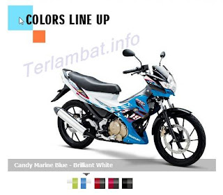 Foto Satria FU 150 Biru Putih (brilian white)