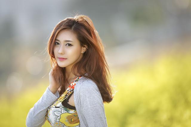 1 Kim Ha Yul Lovely Outdoor - very cute asian girl - girlcute4u.blogspot.com
