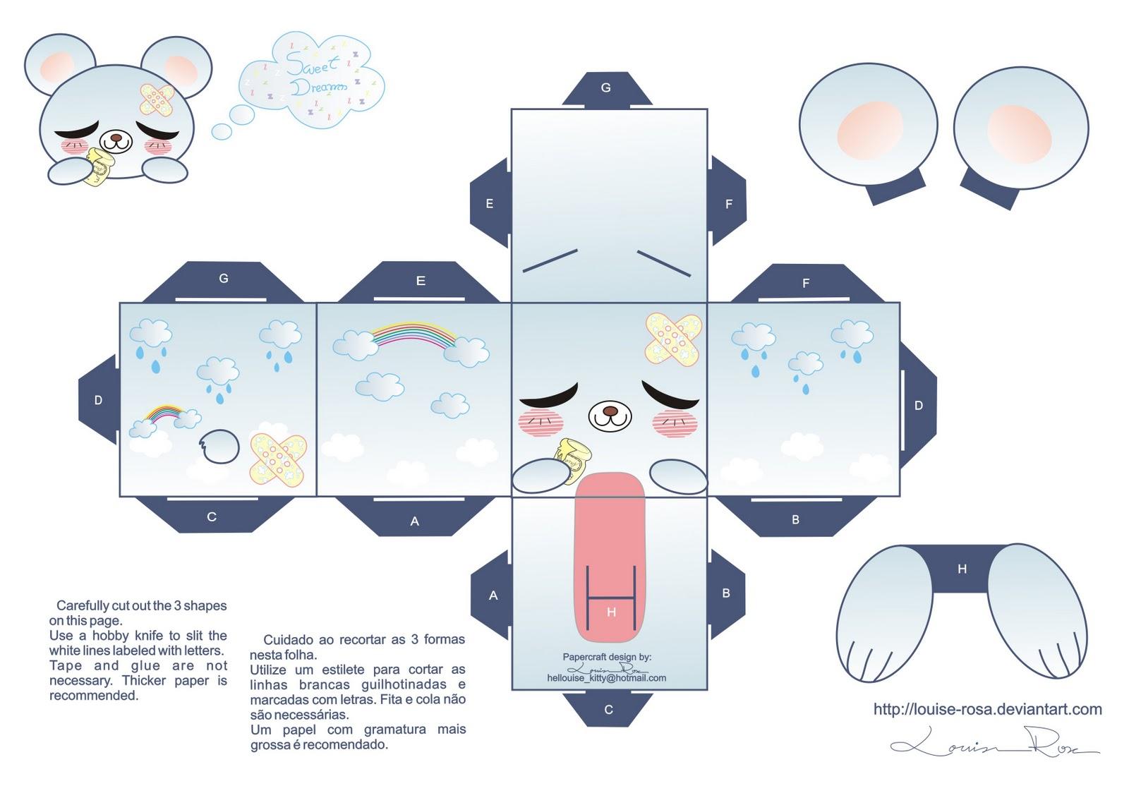 Traumapolis: Oso kawaii Papercraft