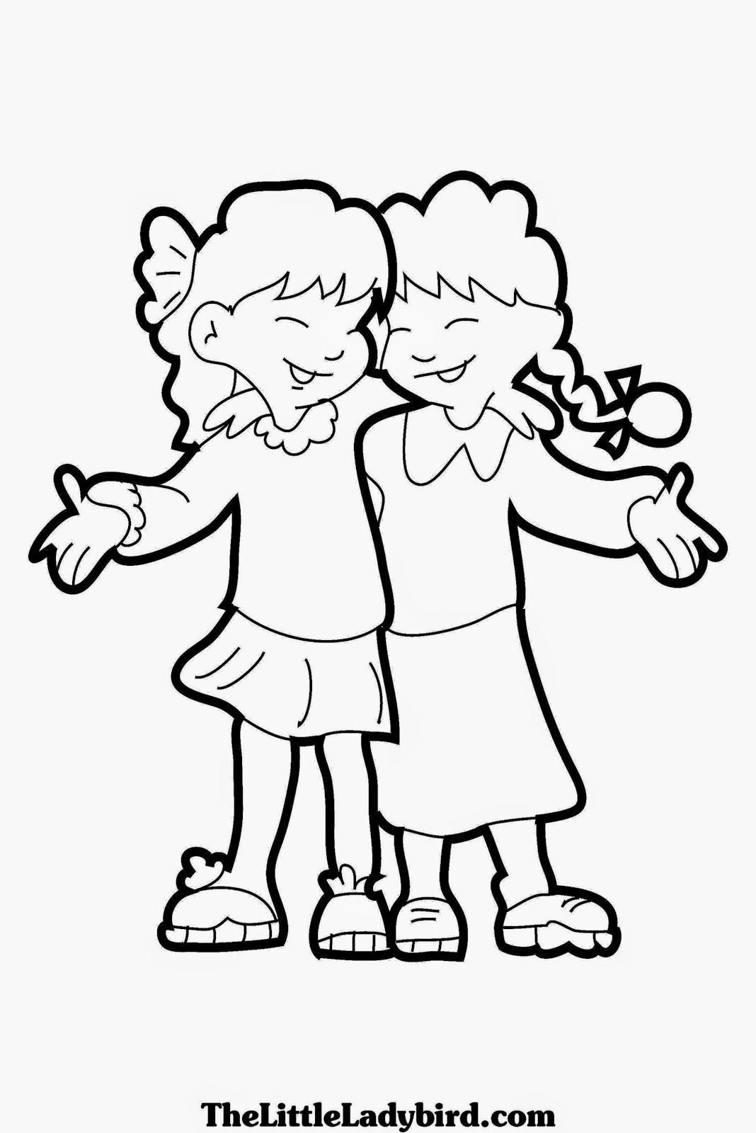 Friendship Coloring Sheets Free Coloring Sheet Friendship Colouring Pages
