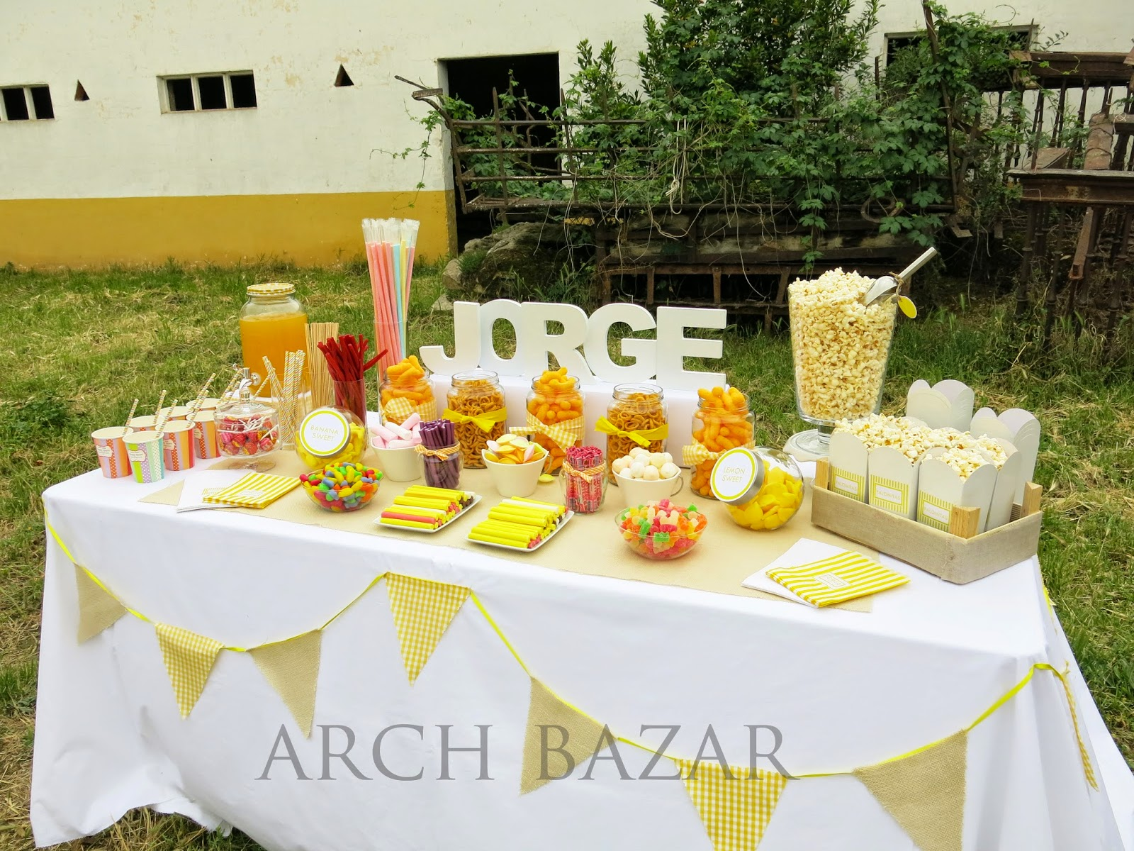 Arch bazar candy bar party deco donostia san sebasti n - Como hacer un candy bar ...