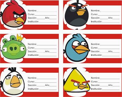 Otra version de las etiquetas de angry birds