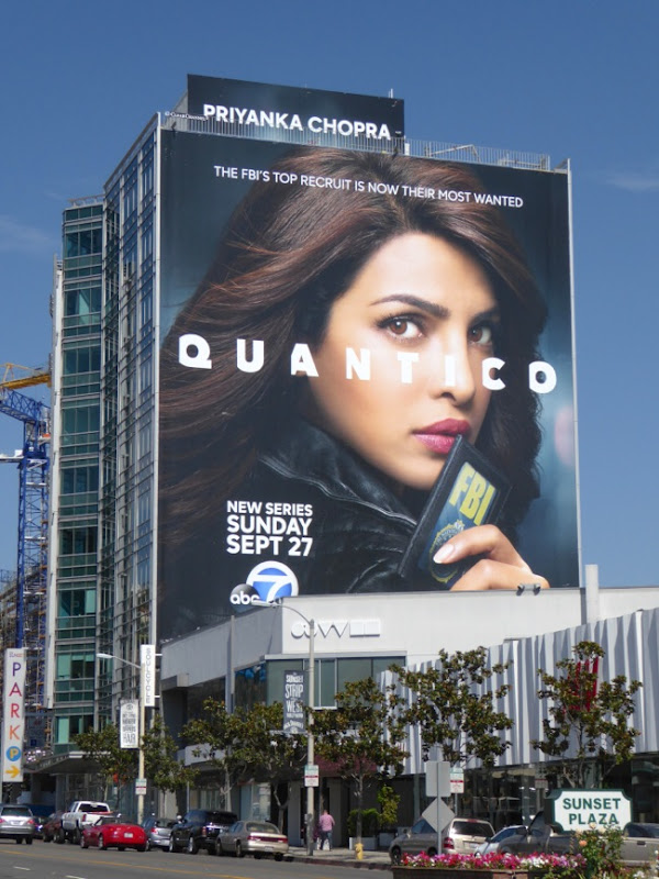 Giant Priyanka Chopra Quantico series billboard