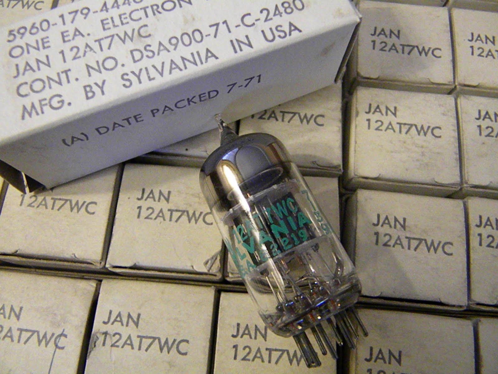 SYLVANIA JAN 12AT7WC 6201 12AT7WA