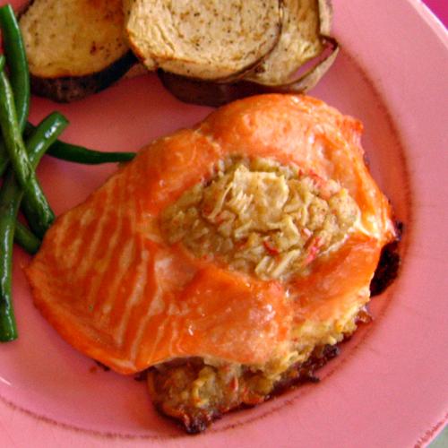 Stuffed Salmon: Paleo Recipes
