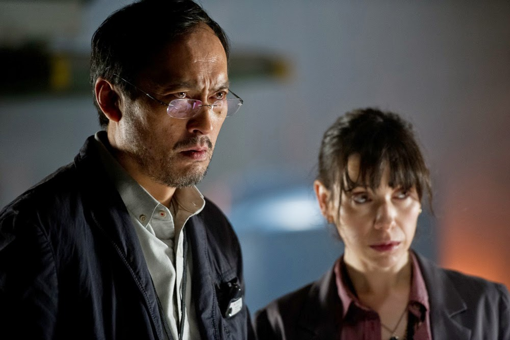 Ken Watanabe and Sally Hawkins in Godzilla (2014)