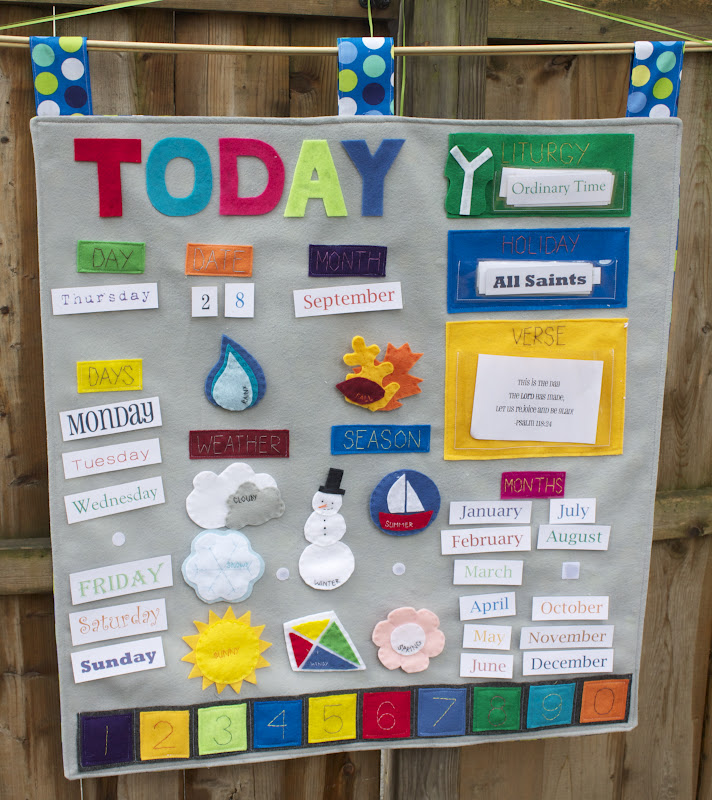 Calendar Ideas For Nursery : Handmade by meg k our learning calendar