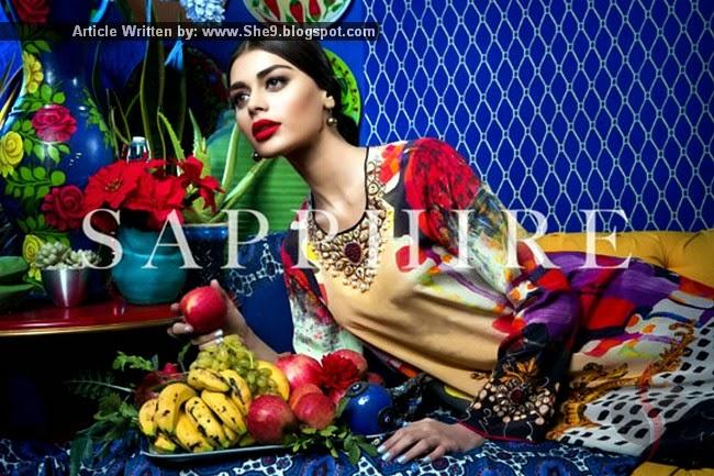 Khadijah Shah's Sapphire Silk Pret 2015