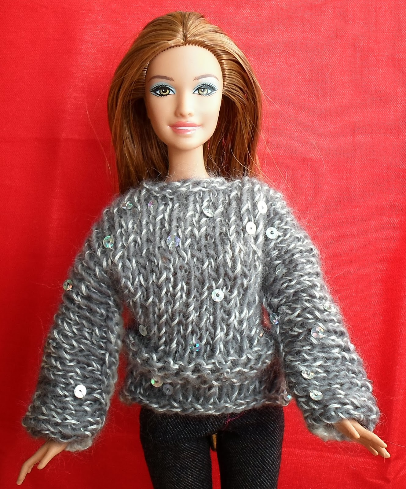 Happier Than A Pig In Mud: Long Sleeve Barbie Sweater Pattern-Knit ...