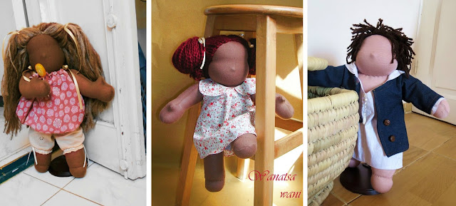 faceless muslim dolls girls and boys