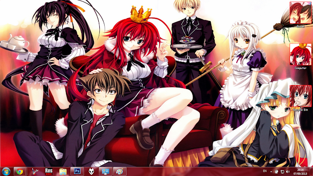 [Theme Win 7] HighSchool DxD By Bashkara