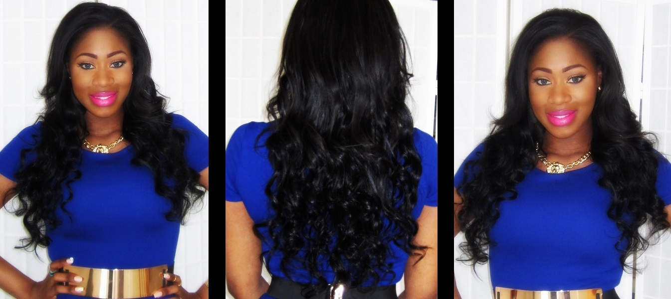 Hair Clip Extensions Before And After Before And After Clip in Hair