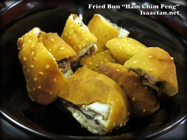 Fried Bun with red bean paste aka Ham Chim Peng