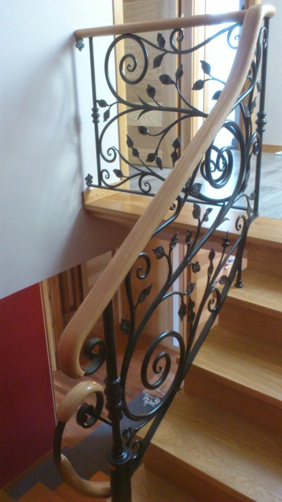 Escaleras y pasamanos pasamanos forja madera - Pasamanos de madera para escaleras ...