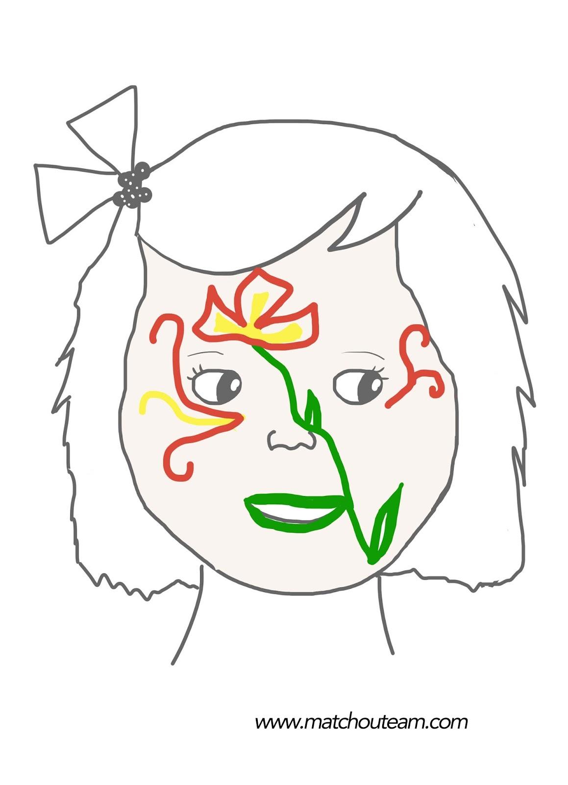 maquillage fleur