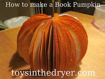 how to make a pumpkin out of a book