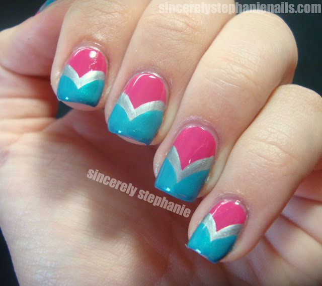 fishtail chevron nail art