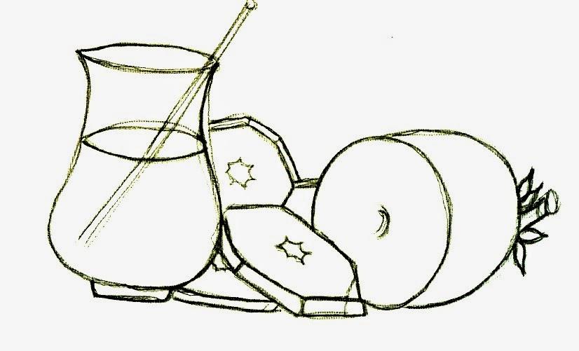 desenho de abacaxi cascado com jarra de suco para pintar
