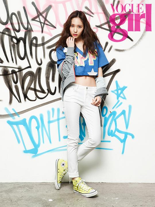 twenty2 blog: f(x)'s Krystal in Vogue Girl Korea April ... F(x) Krystal 2013