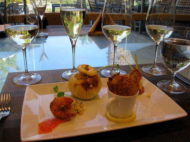 Wine and Food pairing flight