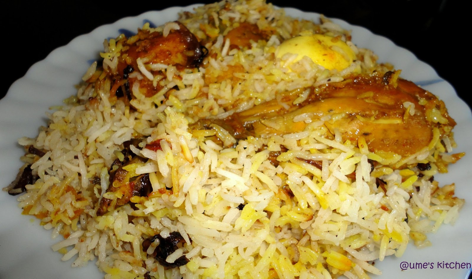 Ume 39 s kitchen chicken biryani for Chicken biryani at home