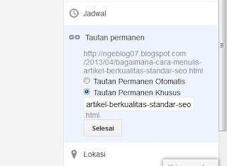 Merubah URL Artikel Agar SEO friendly