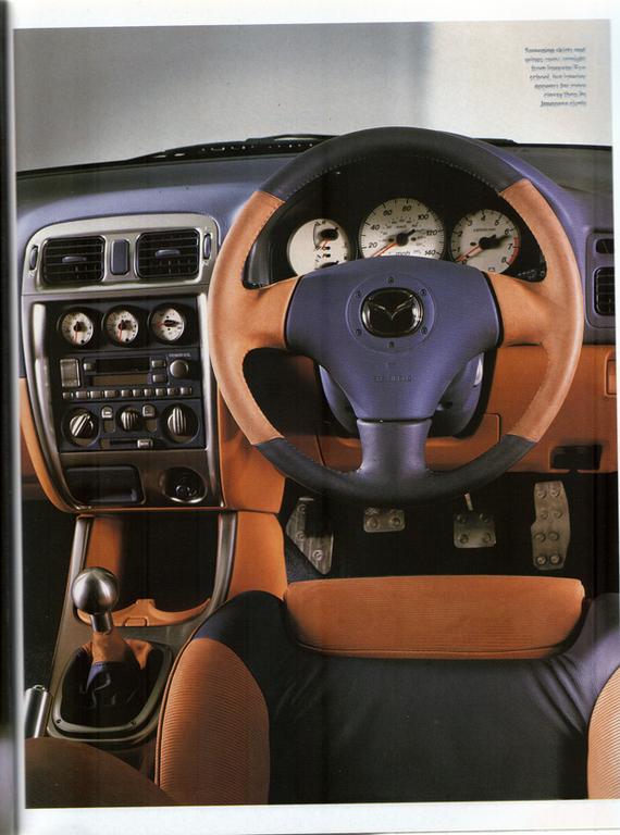 Mazda 626, Capella, GF, MPS, wnętrze, środek, prototyp, koncept, JDM, fotki