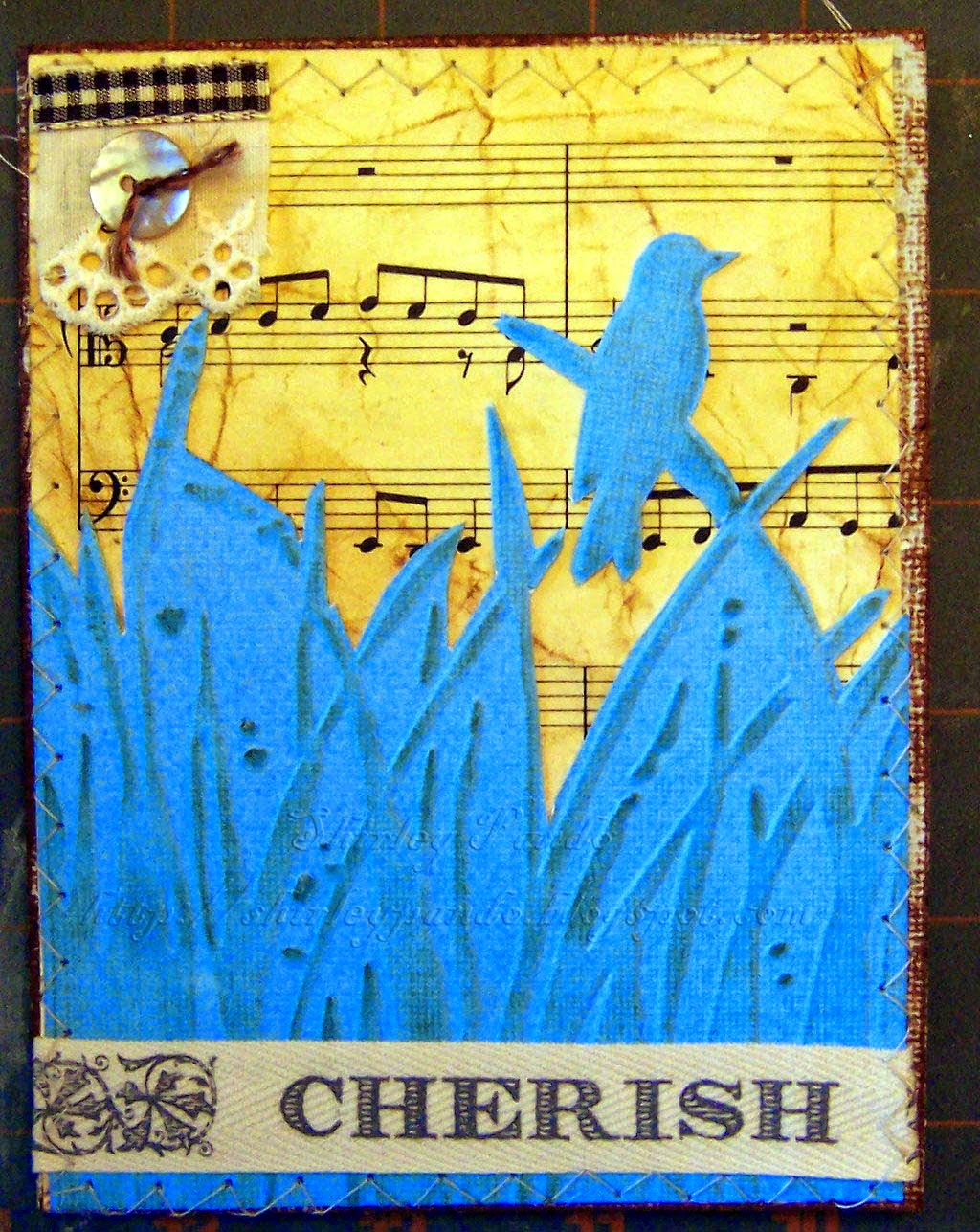 Bird Cherish card