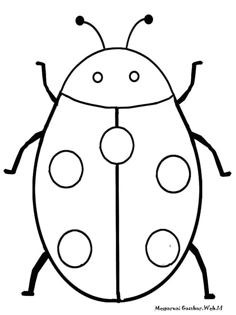 Gambar serangga untuk diwarnai
