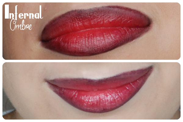 red ombre lips czerwone usta